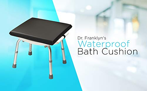 Dr. Franklyn's Waterproof Cushion with Secure Strap - Non-Slip Washable Seat for Safety & Comfort Pain Sore Relief - Ideal for Elderly & Handicap (Black) by Dr. Franklyn's (Image #7)