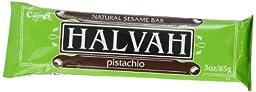 Camel Halvah Bar, Pistachio, 3-Ounce Bars (Pack of 20)