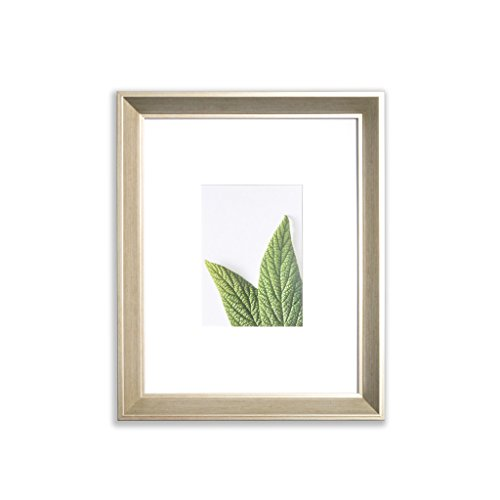 Vista Daintree 11 X 14  Picture Frame  Wide Bevel In Gold Wash  Wide Mat W 5 X 7  Opening