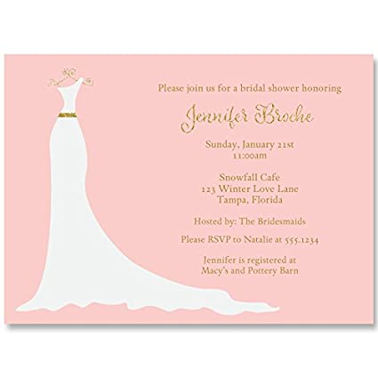 amazon com bridal shower invitations simple gown wedding shower