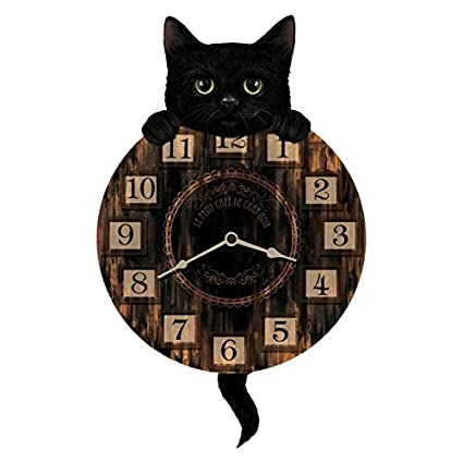 OROLOGIO DA PARETE DESIGN LUCKY CAT PENDOLO OROLOGIO PER CUCINA O SALOTTO  NUOVO