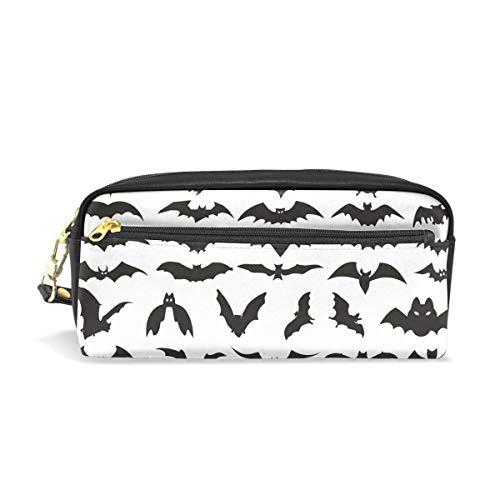 MUOOUM Halloween Bat Clip Art Pencil Case for Kids Pen Box Pouch Case Makeup Cosmetic Travel School Bag]()