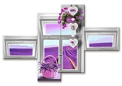 Lupia quadro moderno pezzi cm multipannello finestre sul