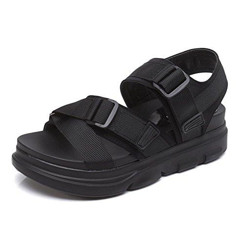 Sandals Damen Sommer flache Unterseite dicke untere Sandalen mit römischen Sandalen 1