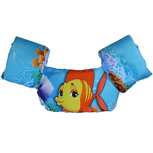 Dilwe - Chaleco salvavidas para bebé, diseño de dibujos animados, Patrón de pez