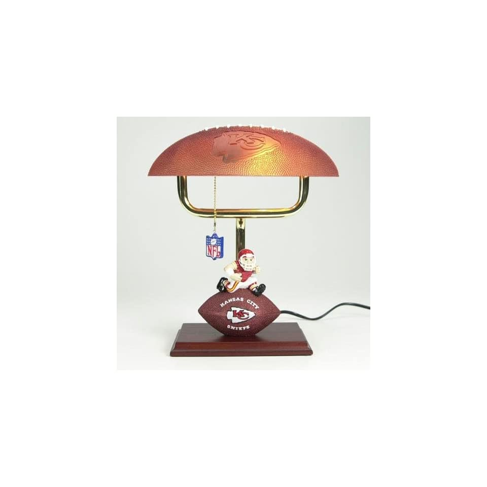 Kansas City Chiefs NFL Mascot Desk Lamp w/ Football Shade (14) Home