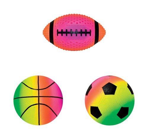 Rainbow Soccer Ball - Hedstrom Rainbow Sprayed Mini Vinyl Sport Balls (3 Pack)