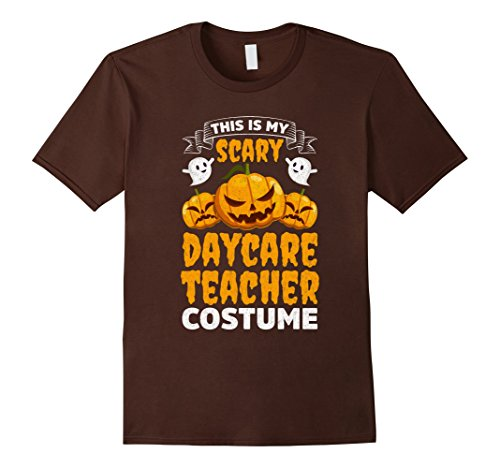 Mens Scary Daycare Teacher Costume Funny Halloween Shirt Medium Brown - Daycare Worker Costume