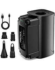 Air Pump for Inflatable, PUMTECK Rechargeable Air Pump, Portable Cordless Electric Air Mattress Pump,Air Pump, Airbed, Inflatable Boat, Swim Ring, Yoga Ball & More (Upgraded Version)