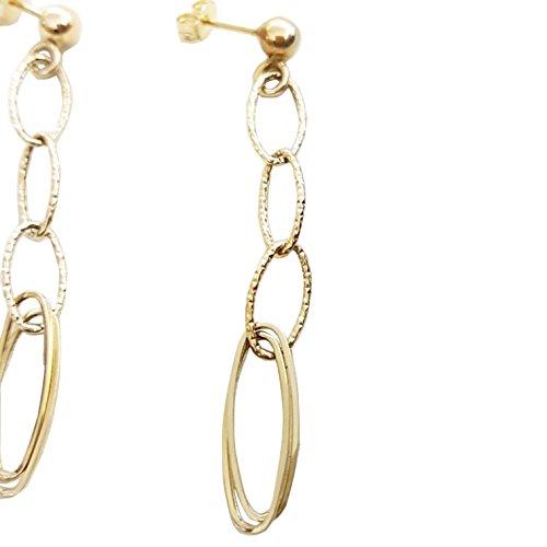 Boucles d'oreilles pendantes en Or jaune 18carats (750/000) Gr. 1.50