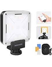 Neewer Mini LED Video Light Pocket-Size On-Camera Video Light 12-Piece LED Lighting CRI 95+ with Built in Battery, Hot Shoe Adapter and Carry Bag for Canon Nikon Sony and Other DSLR Cameras