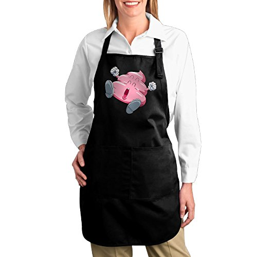 Dogquxio Cute Pink Poop Kitchen Helper Professional Bib Apron With 2 Pockets For Women Men Adults (Shotgun Wedding Costume Ideas)