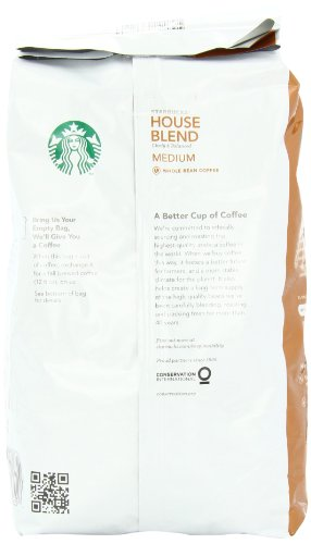 Starbucks House blend Whole Bean Coffee, 32 Ounce