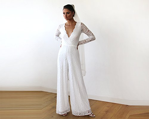 Blush Fashion Wedding Party White Dressy Jumpsuit For