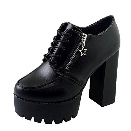 Zapatos Vintage De Inglaterra,Chunky Heels Tacones,Sistema Impermeable De La Tabla Con Los Zapatos,Zapatos De Mujer Versátil A