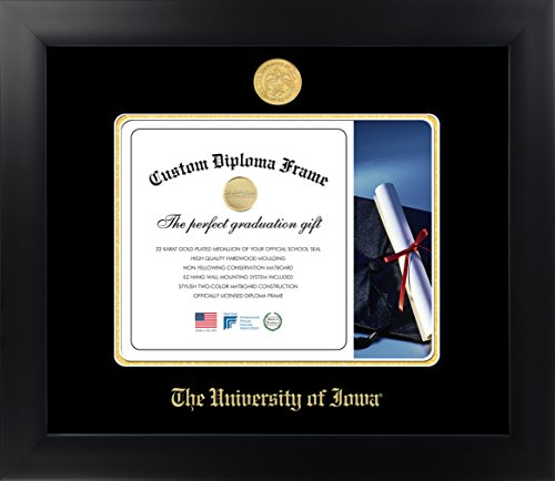 Celebration Frames The University of Iowa 8½ x 11 Matte Black Finish Infinity Diploma Frame