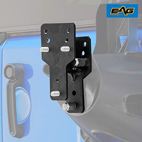 EAG Spare Tire Relocation Bracket Fit for 1976-2018 Jeep Wrangler CJ/YJ/TJ/JK ()