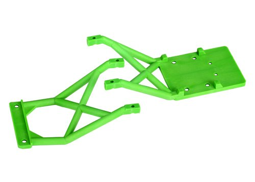 (Traxxas 3623A Front and Rear Green Skid Plates)