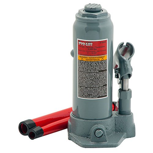 Pro-Lift B-004D Grey Hydraulic Bottle Jack - 4 Ton Capacity by Pro-Lift