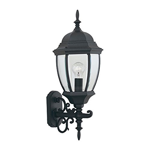 Designers Fountain 2432-BK Tiverton 9 Inch Wall Lantern Tiverton 1 Light Cast
