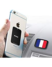 Support magnétique de téléphone pour voiture avec 6 aimants pour tenir des téléphones comme iPhone XR XS X 8 7 et 7 Plus Galaxy S8 et S8 Plus avec système de fixation de qualité industrielle