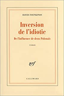 Inversion de l'idiotie : de l'influence de deux Polonais, Foenkinos, David