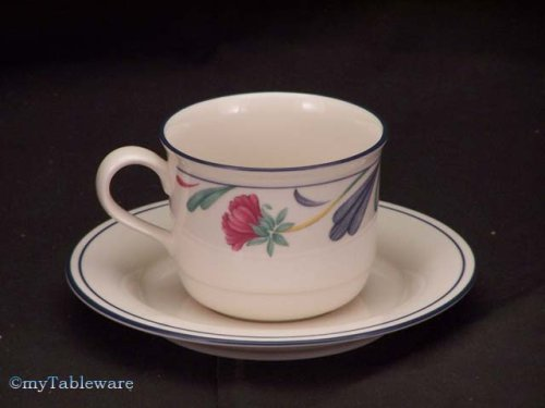 Lenox Poppies On Blue Cup & Saucer ()