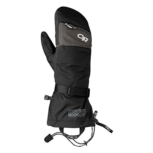 Outdoor Research Revel Shell Mitts, Black/Charcoal, Large