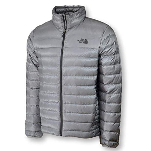(The North Face Men Flare Down Jacket Coat, Mid Grey, Small)