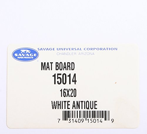 (SAVAGE MAT BOARD 16X20 WHITE CREAM PACK OF 10, NEW.)