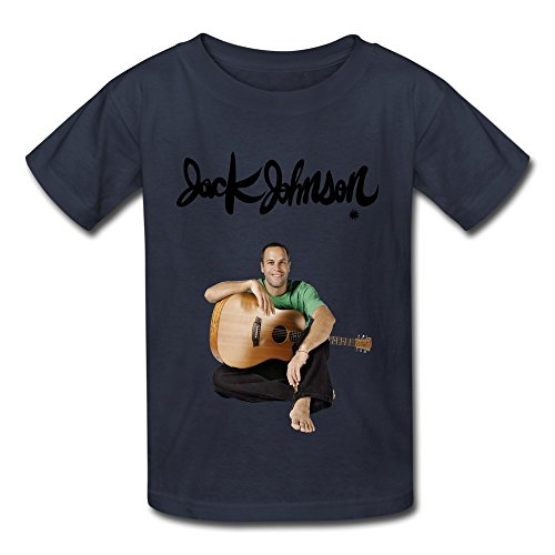 SOGA Boys Short Sleeve Tees Jack Johnson Poster Size S Navy