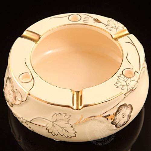 葉巻灰皿, 家族セラミック灰皿、モダンリビングルームの装飾、デスクごみ収納ボックス - 白 - 12センチメートルX5cm(長さX幅)