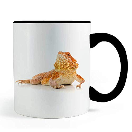 Orange Glow Bearded Dragon Lizard - Coffee and Tea Mug