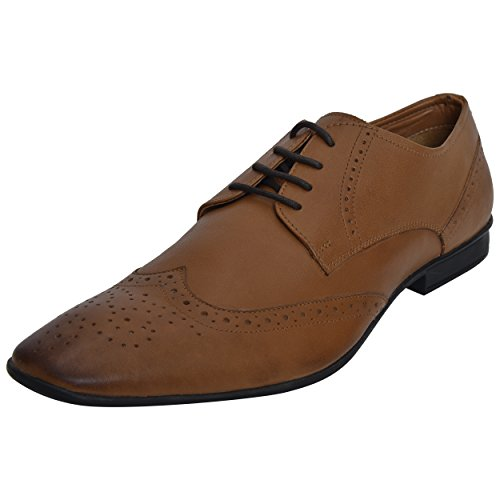 Dolphin Miles Genuine Leather Dull Finish Men's Dickinson Cap-Toe Lace-up Oxford,8 ()
