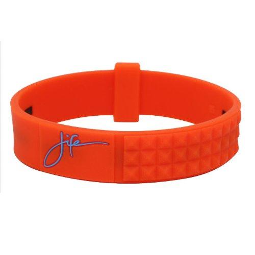 UPC 833975011722, PHITEN Titanium Bracelet, Red/Orange, 6.75-Inch/Medium