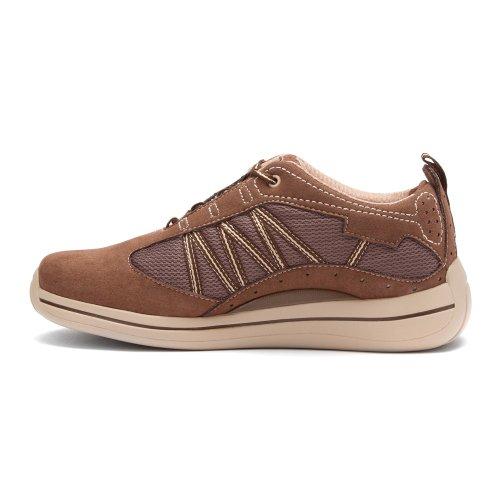 Trok De Bobbi Sneakers Van Damesschoen Bruin / Crème Combo