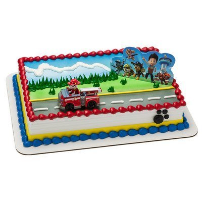 Amazoncom Paw Patrol Birthday Cake Kit Toys Games