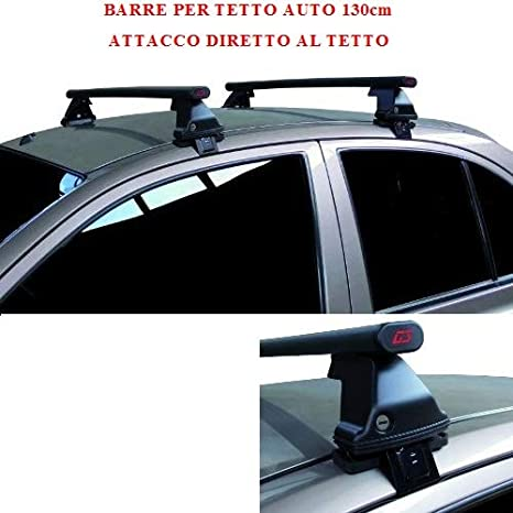 Compatible con Citröen C5 Aircross 5p 2018 (68.124) Barras Rack DE Techo para Coche Barra DE 130CM para Coches con Accesorio Directo AL Techo SIN ...