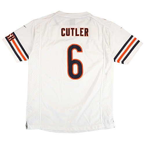(Chicago Bears Jay Cutler #6 NFL Big Boys Youth Game Jersey, White (X-Large (18-20)))