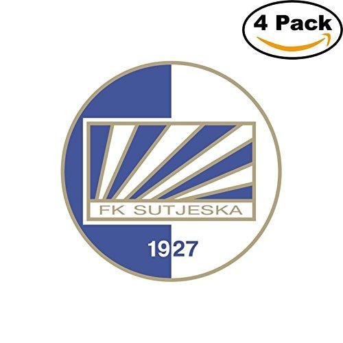 fan products of Sutjeska Yugoslavia Soccer Football Club FC 4 Stickers Car Bumper Window Sticker Decal 4X4