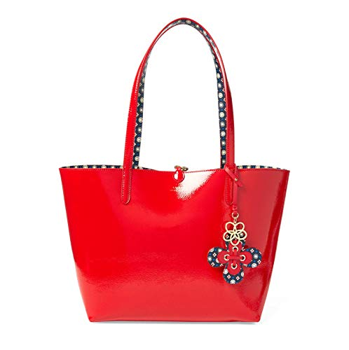 geo Lauren Reversibile Ralph Merrimack Red Shopping Borsa nSwqYqvp