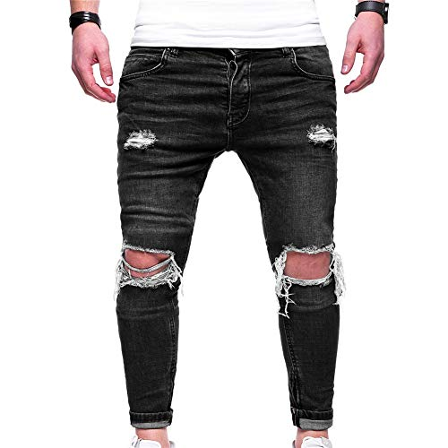 Uomo Da Fit Denim Slim 1876 Skinny Pantaloni Elasticizzati Strappati Jeans Z5fAxB