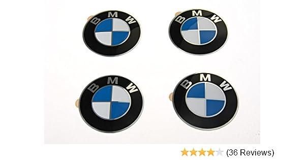 BMW ORIGINAL OEM STYLE 68MM ALLOY WHEEL EMBLEMS 1 2 3 4 5 6 7 SERIES M SPORT