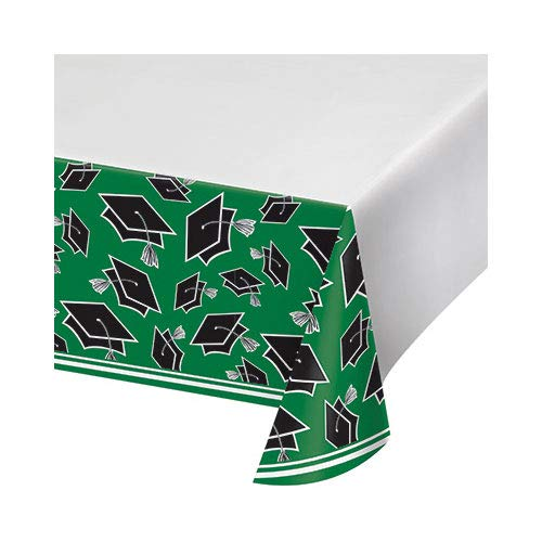 Hoffmaster Group 320062 5 x 102 in. School Spirit Emerald Green Tablecover, Pack of 12