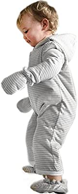 Merino Kids Winter Sherpa Play Baby Suit for Babies 6-12 Months Turtle Dove