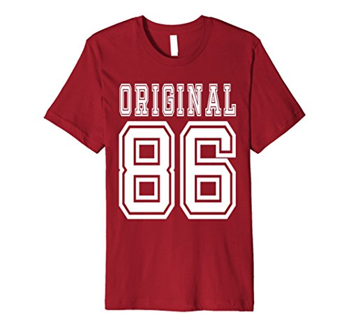 Mens 31st Birthday Gift 31 Year Old Present Idea 1986 T-Shirt F Medium Cranberry