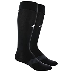 adidas Metro IV Soccer Socks, Black/White/Night Grey, Medium