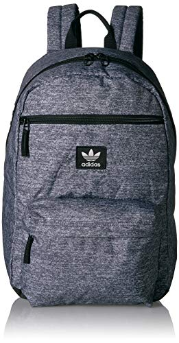 adidas Originals Unisex National Backpack, Heather Grey, ONE SIZE