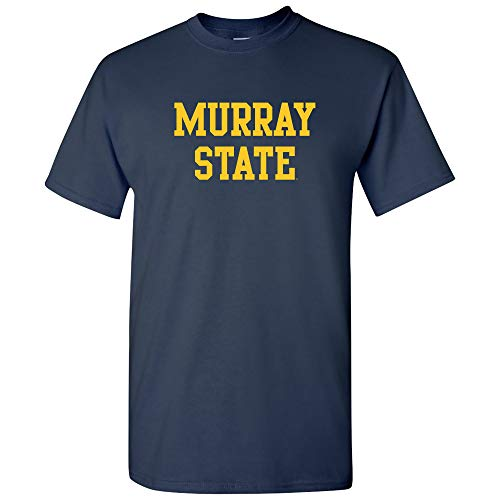 AS01 - Murray State Racers Basic Block T-Shirt - 2X-Large - Navy