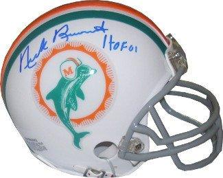 Nick Buoniconti Signed Miami Dolphins TB Replica Mini Helmet HOF 01 - Autographed NFL Helmets